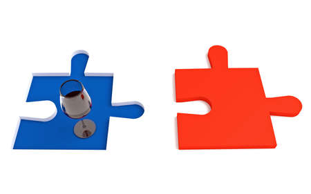 french wine: French wine, Tricolor puzzle