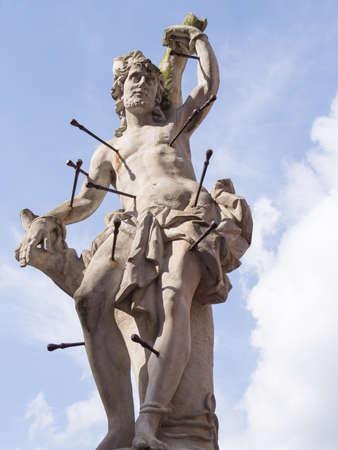 vexation: Statue of Saint Sebastian, Cieblice, Poland