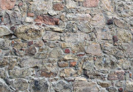 gora: Background, medieval wall, Jelenia Gora, Poland Stock Photo