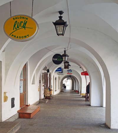 arcades: Arcades at townhall square, Jelenia Gora, Poland