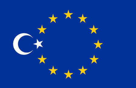 pacto: Collage: flag of Turkey and flag of Europe, European Union (EU)