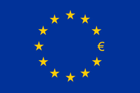 euro sign: Flag of Europe, European Union (EU), Euro sign instead of star