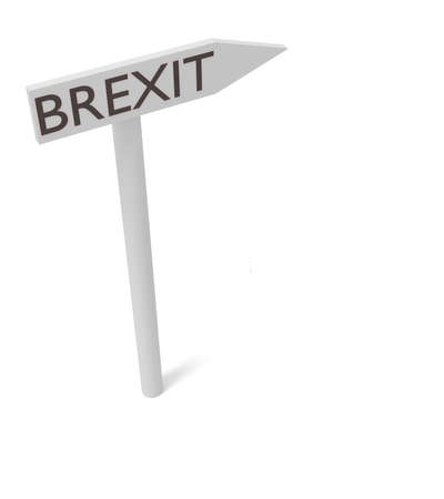 guidepost: Brexit: guidepost, 3d illustration