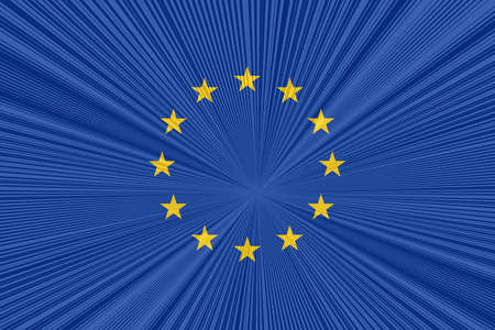 tangent: Eu flag with tangent background pattern Stock Photo
