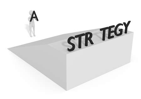 ramp: Missing letter: Strategy on a ramp, 3d illustration