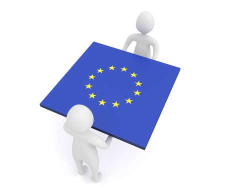 eu: EU Teamwork, European Union, 3d illustration Stock Photo