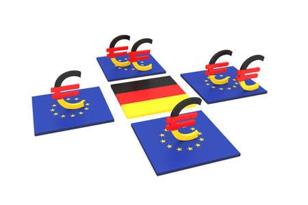 contribution: German contribution to the EU, 3d illustration Stock Photo
