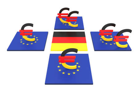 contribution: German contribution to the EU, 3d illustration Stock Photo