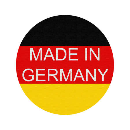 made: Made in Germany, button Stock Photo