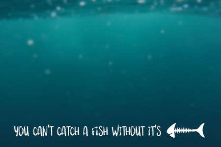 cognicion: No se puede atrapar un pez sin sus huesos Foto de archivo