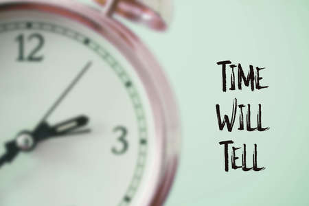 Time will tell, English saying illustrated Фото со стока