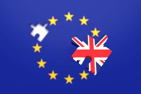 Fehlende Puzzleteil: Großbritannien aus der EU, 3D-Darstellung