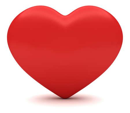heart 3d: Love: Heart, 3d illustration Stock Photo