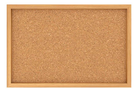 cork: Cork Board With Wooden Frame Isolated On White Background, 3d illustration