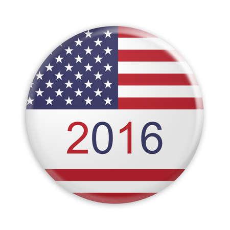 Badge US Presidential Election 2016, 3d illustration