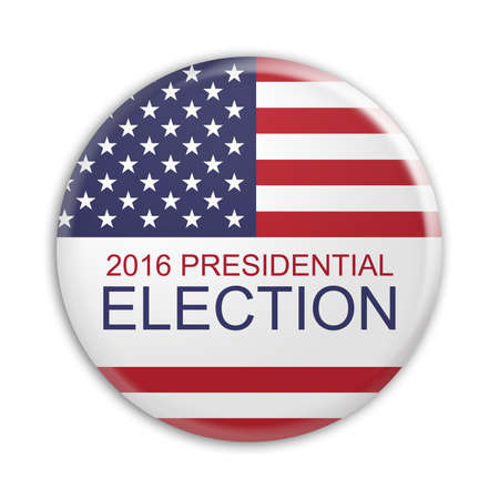republican party: Badge US Presidential Election 2016, 3d illustration