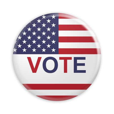 Badge Vote US Election, 3d illustration