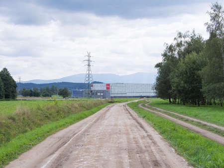 gora: JELENIA GORA, POLAND - AUGUST 13, 2016: Path To A Shopping Center in Jelenia Gora, Poland