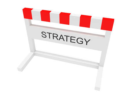 Hurdle Strategy, 3d illustration on a white background