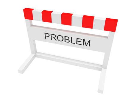 obstruction: Hurdle Problem, 3d illustration on a white background