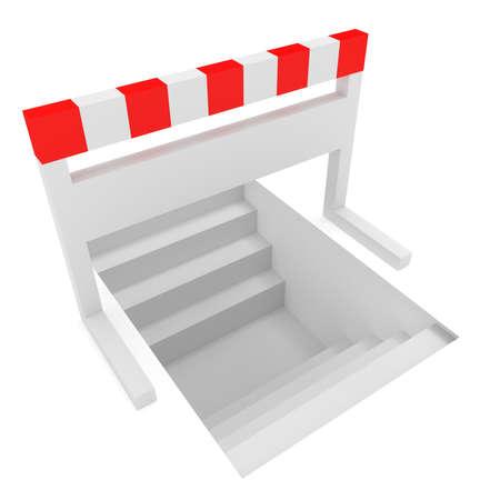 idea hurdle: Creative Solution: Stairways Under A Hurdle, 3d illustration