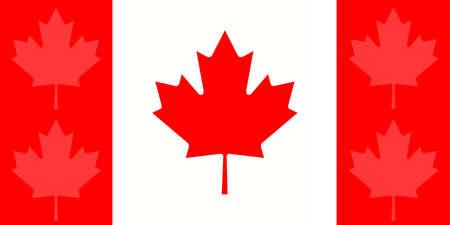 canadian maple leaf: Canada: Canadian Maple Leaf Flag With Additional Leaves , illustration