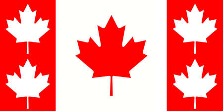 canadian maple leaf: Canada: Canadian Maple Leaf Flag With Additional Leaves, illustration Stock Photo