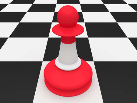 chessman: Austria Flag Chess Piece Pawn, 3d illustration
