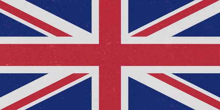 grunge union jack: Vintage Grunge UK Union Jack Flag, background illustration Stock Photo