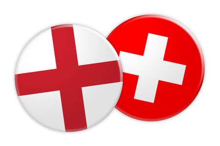 7bd9f0999d2 News Concept  England Flag Button On Switzerland Flag Button