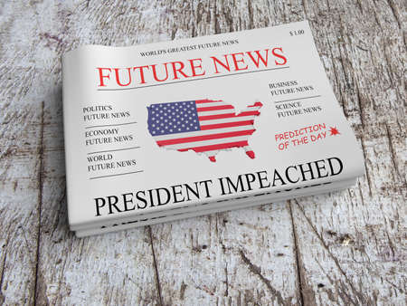 predict: Future News Newspaper Concept: US President Impeached, 3d illustration