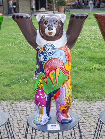 BERLIN, GERMANY - JULY 3, 2017: United Buddy Bears: Australia Bear At Wittenbergplatz Square In Berlin