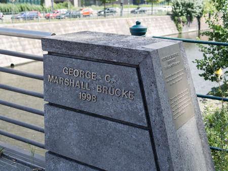 ベルリンのベルリン, ドイツ - 2017 年 7 月 30 日: ジョージ C マーシャル橋