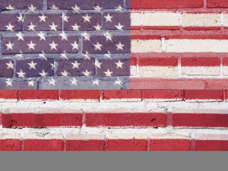 USA Politics Concept: US Flag Wall Background Texture