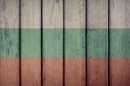 Bulgaria Politics News Concept: Bulgarian Flag Wooden Fence