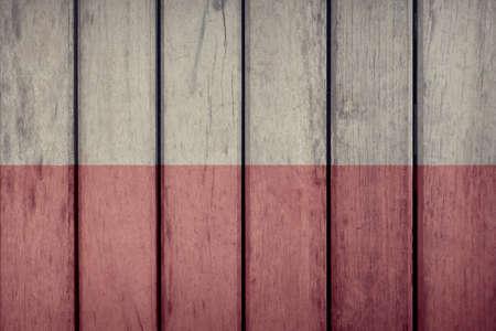 Poland Politics News Concept: Polish Flag Wooden Fence