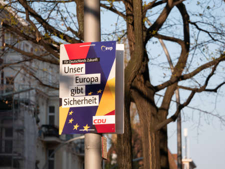BERLIN, GERMANY - APRIL 16, 2019: Campaign Poster of German Party CDU For The Elections To The European Parliament In Berlin, Germany Redactioneel