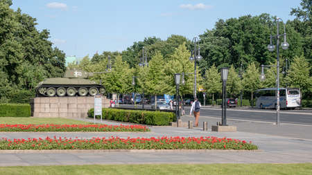 BERLIN, GERMANY - JUNE 8, 2019: Soviet War Memorial in Berlin-Tiergarten In Summer Redakční