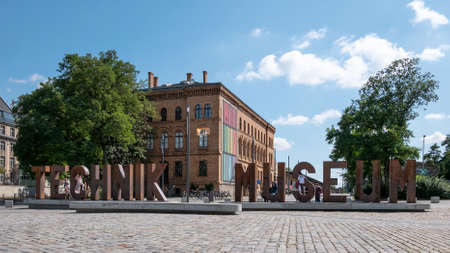 BERLIN, GERMANY - JULY 10, 2019: In Front of Deutsches Technikmuseum, German Museum of Technology, In Berlin In Summer Redakční