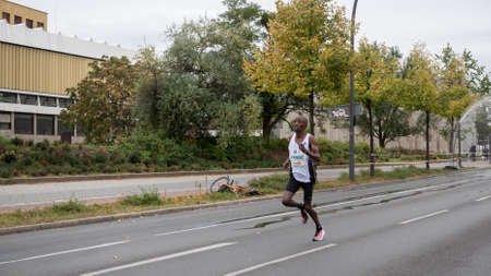 BERLIN, GERMANY - SEPTEMBER 29, 2019: Felix Kandie At Berlin Marathon 2019 In Berlin, Germany