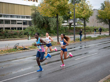 BERLIN, GERMANY - SEPTEMBER 29, 2019: Helen Tola At Berlin Marathon 2019 In Berlin, Germany Redakční