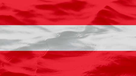 Waves Texture On Austria Flag, Background