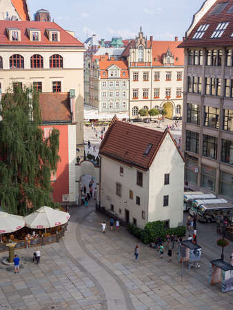 WROCLAW, POLAND - AUGUST 14, 2017: View of Rynek Market Square In Wroclaw