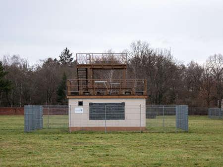 BERLIN, GERMANY - FEBRUARY 8, 2020: Weather Station of German Meteorological Service Deutscher Wetterdienst In Tempelhofer Feld In Berlin, Germany