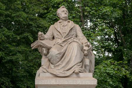 The Richard Wagner Monument, German: Richard-Wagner-Denkmal, Memorial Sculpture Located In Tiergarten In Berlin, Germany