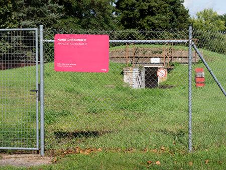 BERLIN, GERMANY - SEPTEMBER 4, 2020: Ammunition Bunker At Public City Park Tempelhofer Feld, Former Tempelhof Airport In Berlin, Germany