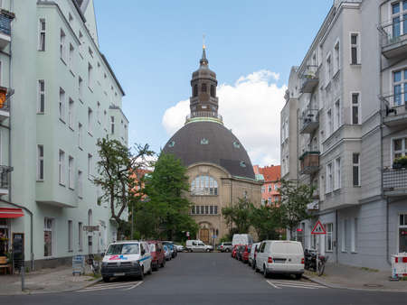 BERLIN, GERMANY - JUNE 14, 2020: Queen Louise Memorial Church In Berlin, Germany In Summer