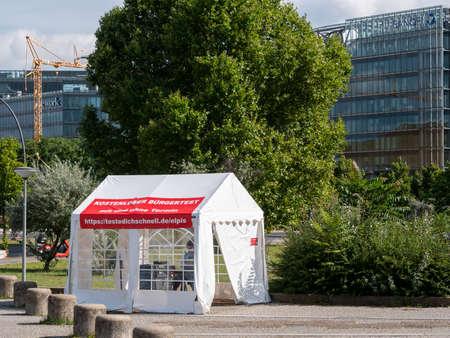 Corona Rapid Test Station In Berlin, Germany