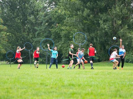 Quidditch Match In Public Gleisdreieck Park in Berlin, Germany