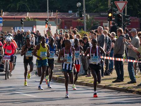 Leading Group At Berlin Marathon 2021 With Winner Guye Adola